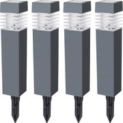 SOLARLEUCHTE - Transparent/Dunkelgrau, KONVENTIONELL, Kunststoff (5,8/38,5/5,8cm) - Boxxx