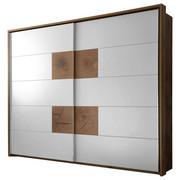ORMAR S KLIZNIM VRATIMA - bijela/boje hrasta, Design, drvni materijal/metal (280/230/60cm) - Hom`in