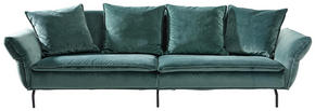 MEGASOFFA - grön/svart, Trend, textil (300/88-45/109cm) - Landscape