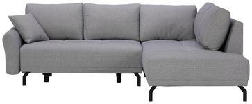 WOHNLANDSCHAFT in Textil Grau  - Schwarz/Grau, MODERN, Textil/Metall (250/191cm) - Carryhome