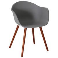 GARTENSESSEL Eukalyptusholz massiv - Anthrazit/Naturfarben, Design, Holz/Kunststoff (52/81/58cm) - AMBIA GARDEN