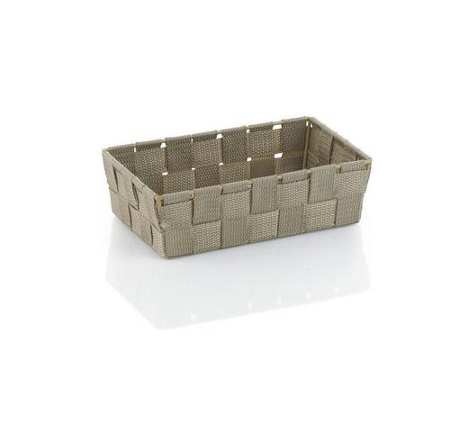 KOŠARA ALVARO, NATUR - sivo rjava, Konvencionalno, umetna masa (23/15/6cm) - Kela