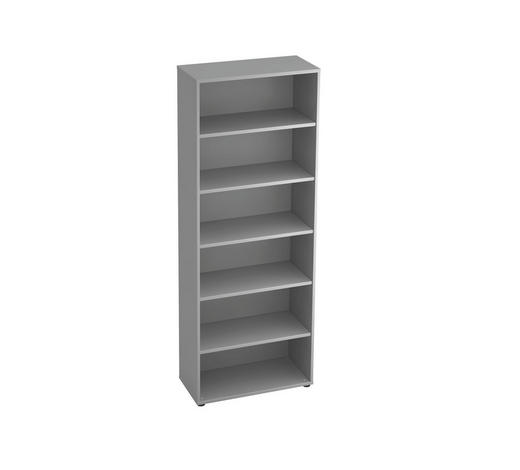 REGAL in 80/215,6/40 cm Grau - Schwarz/Grau, KONVENTIONELL, Holzwerkstoff/Kunststoff (80/215,6/40cm)