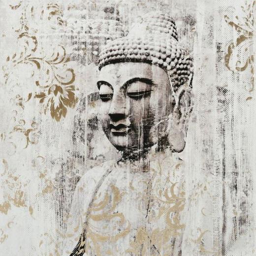 Zen BILD - Multicolor, LIFESTYLE, Holz/Textil (80/80cm)
