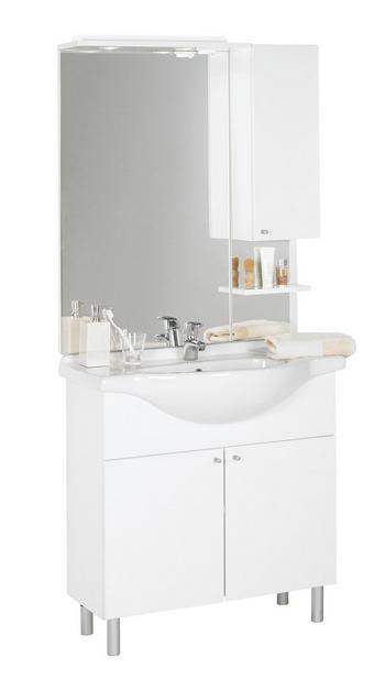 KOUPELNA - bílá, Konvenční, kompozitní dřevo (85/186/33-49cm) - Xora