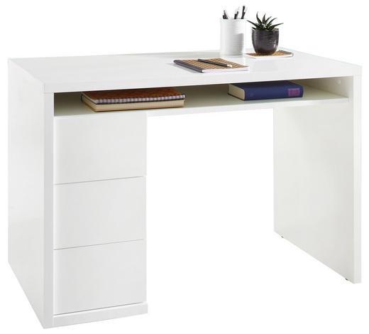 SCHREIBTISCH Weiß  - Weiß, KONVENTIONELL (110/75/60cm) - Xora