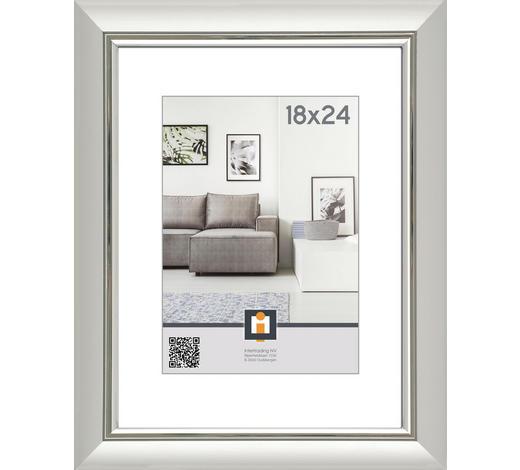 RÁM NA OBRAZY, 18/24 cm, barvy stříbra - barvy stříbra, Basics, umělá hmota/sklo (18/24cm)