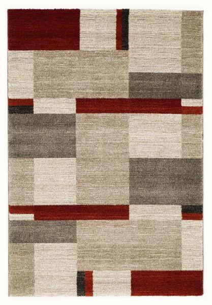 WEBTEPPICH  65/130 cm  Beige, Braun, Rot - Beige/Rot, Basics, Textil (65/130cm) - Novel