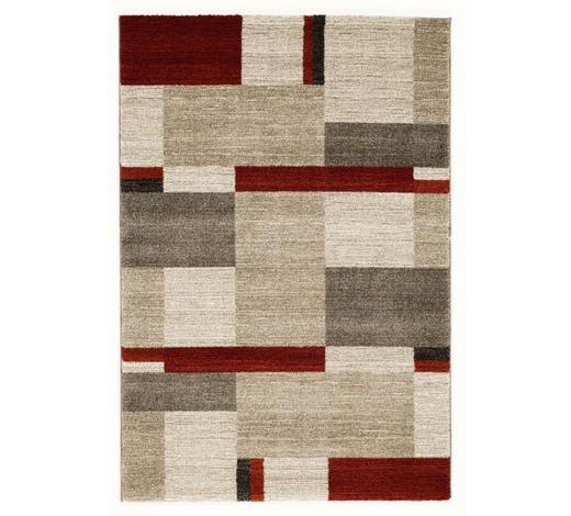 WEBTEPPICH - Beige/Rot, KONVENTIONELL, Textil (80/200cm) - Novel