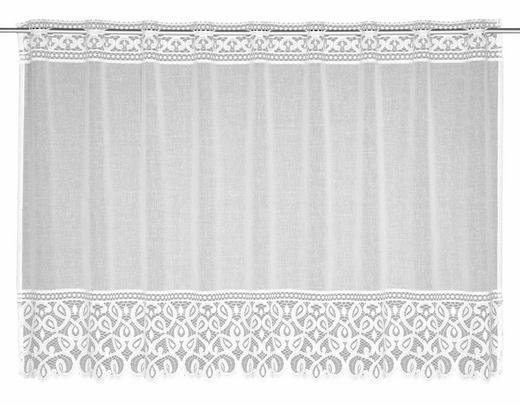 FERTIGVORHANG  transparent - Weiß, Textil (145/80cm)