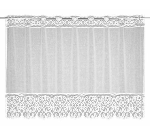 FERTIGVORHANG  transparent  145/80 cm   - Weiß, Textil (145/80cm)