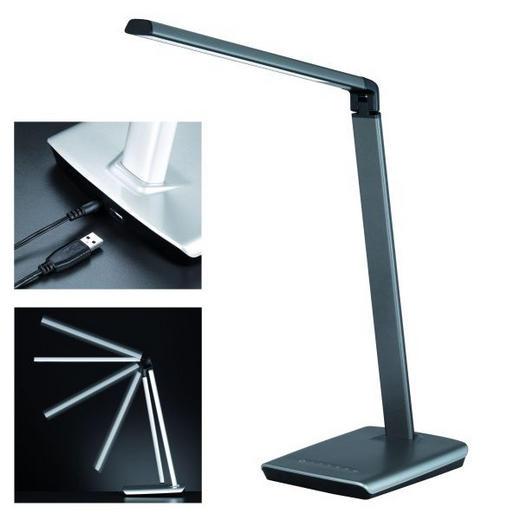 LED-TISCHLEUCHTE - Grau, KONVENTIONELL, Metall (bis 79 cmcm) - Novel
