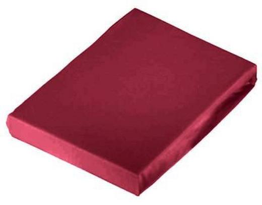 SPANNBETTTUCH Jersey Rot bügelfrei - Rot, Basics, Textil (150/200cm) - Novel