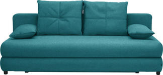 SCHLAFSOFA in Textil Petrol  - Petrol/Schwarz, Design, Kunststoff/Textil (208/73-90/102cm) - Hom`in
