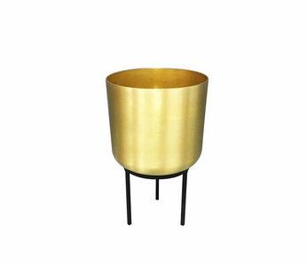 SAKSIJA ZA BILJE - Crna/Zlatna, Trendi, Metal (15/25cm) - Ambia Home