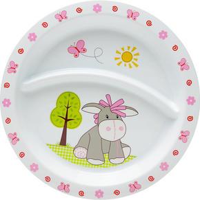 BARNTALLRIK - vit/rosa, Trend, plast (21,5/1,8cm) - My Baby Lou