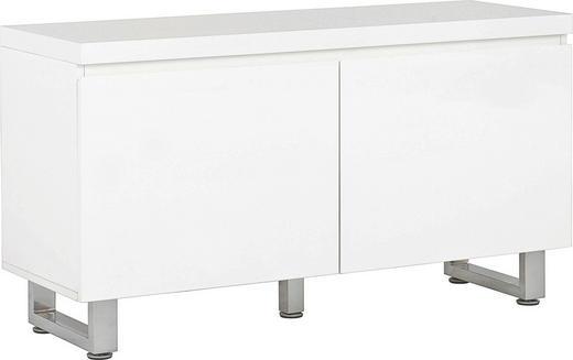BYRÅ - vit/kromfärg, Modern, metall/träbaserade material (111/60/38cm) - CARRYHOME