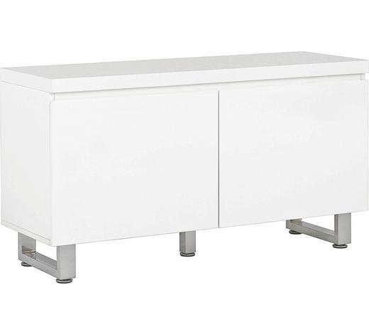 KOMMODE 111/60/38 cm - Chromfarben/Weiß, Design, Holzwerkstoff/Metall (111/60/38cm) - Carryhome