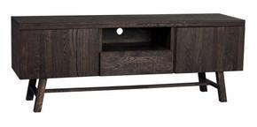 MEDIABÄNK - mörkbrun, Design, trä (160/60/45cm) - Rowico