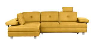 WOHNLANDSCHAFT in Textil Gelb  - Chromfarben/Gelb, Design, Textil/Metall (190/288cm) - Hom`in