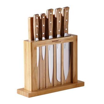MESSERBLOCK - Edelstahlfarben/Naturfarben, Basics, Holz/Kunststoff (10/31,7/10cm) - HOMEWARE PROFESSIONAL