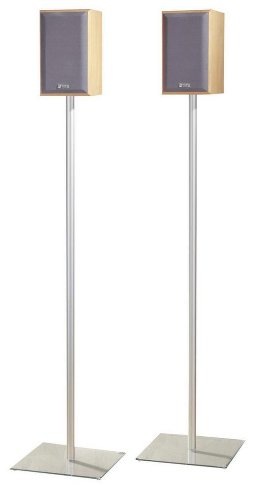 BOXENSTÄNDER Silberfarben - Klar/Silberfarben, KONVENTIONELL, Glas/Metall (26/107/26cm)