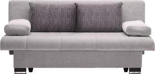 SCHLAFSOFA in Textil Hellgrau  - Wengefarben/Hellgrau, KONVENTIONELL, Holz/Textil (200/92/104cm) - Novel