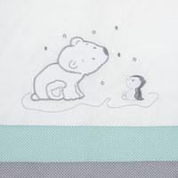 BABYBETTWÄSCHE 100/135 cm - Türkis/Weiß, Basics, Textil (100/135cm) - My Baby Lou
