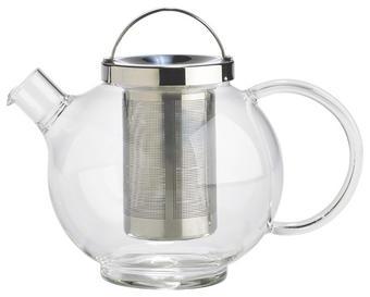 Teekannenset 1 l - Klar, KONVENTIONELL, Glas/Metall (1l) - Novel