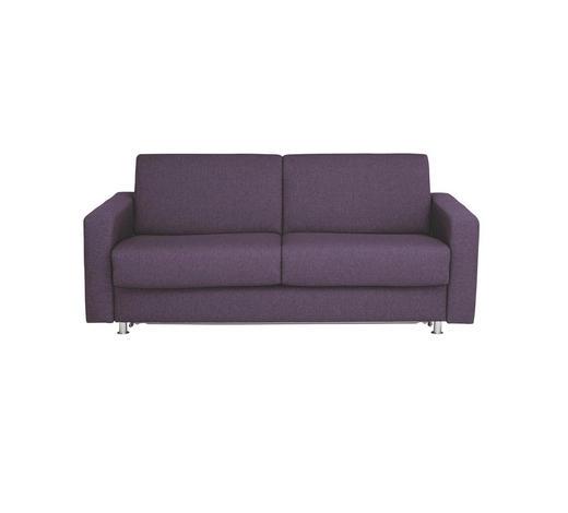 SCHLAFSOFA Flachgewebe Violett - Chromfarben/Violett, KONVENTIONELL, Textil/Metall (195/84/100cm) - Bali