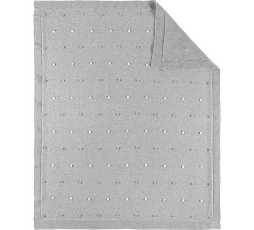 SCHMUSEDECKE 80/100 cm - Blau/Grau, Basics, Textil (80/100cm) - Patinio