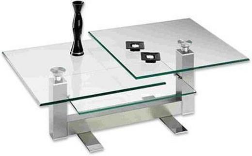 COUCHTISCH quadratisch - Design, Glas/Metall (70/47/70cm) - NOVEL