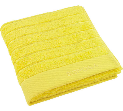 RUČNÍK, 50/100 cm, žlutá - žlutá, Basics, textil (50/100cm) - Esposa