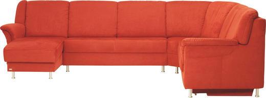 WOHNLANDSCHAFT in Dunkelrot Textil - Alufarben/Dunkelrot, KONVENTIONELL, Textil/Metall (255/318/155cm) - ADA AUSTRIA
