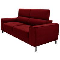 DREISITZER-SOFA in Textil Rot - Chromfarben/Rot, Design, Textil/Metall (199/76-96/98cm) - Hom`in