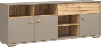 SIDEBOARD melaminharzbeschichtet Grau - Eichefarben/Grau, Design, Holz/Holzwerkstoff (187/70/41cm) - Linea Natura