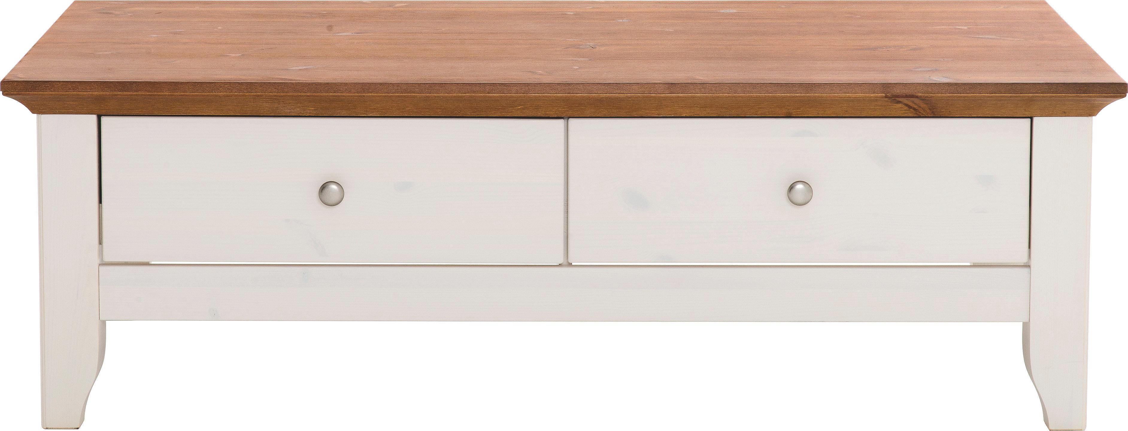 COUCHTISCH in 130/42/75 cm Braun, Weiß - Braun/Weiß, LIFESTYLE, Holz (130/42/75cm) - LANDSCAPE