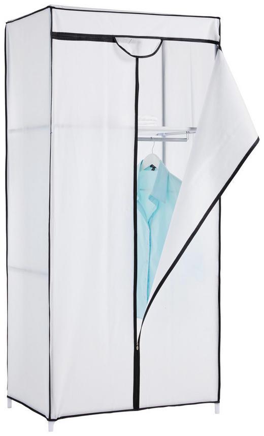 Stoffkleiderschrank in Weiß - Weiß, Basics, Textil/Metall (75/160/50cm)