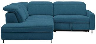 WOHNLANDSCHAFT in Textil Blau  - Chromfarben/Blau, Design, Textil/Metall (221/251cm) - Dieter Knoll