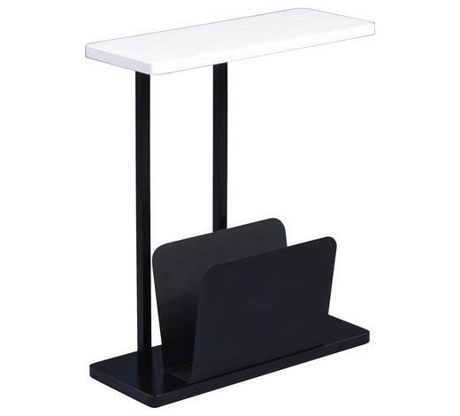 BEISTELLTISCH in Schwarz, Weiß - Schwarz/Weiß, Design, Holzwerkstoff/Metall (50/60/20cm)