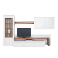DNEVNI REGAL  bela, oreh - oreh/črna, Design, kovina/umetna masa (325/196,5/58,6cm) - Moderano