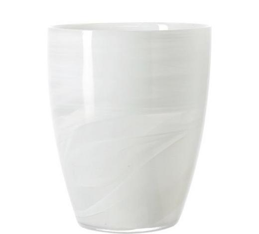 VASE  - Weiß, Basics, Glas (19cm) - Leonardo