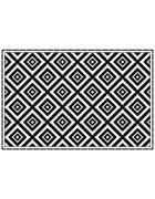 LÄUFER  90/60 cm  Schwarz, Weiß  - Schwarz/Weiß, LIFESTYLE, Kunststoff (90/60cm)