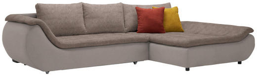 WOHNLANDSCHAFT in Textil Braun - Schwarz/Braun, Design, Kunststoff/Textil (310/185/cm) - Carryhome