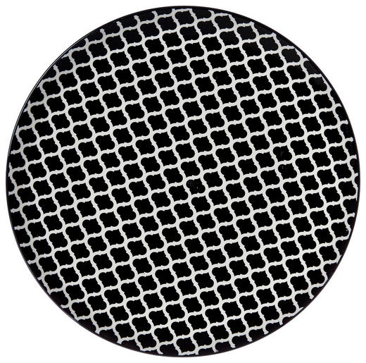 SPEISETELLER 26,5 cm - Schwarz/Weiß, Trend, Keramik (26,5cm) - Ritzenhoff Breker