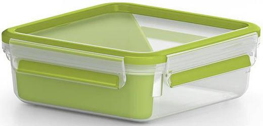 BROTZEITBOX 0,85 L - Transparent/Grün, Basics, Kunststoff (0,9l)