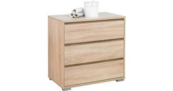 KOMMODE 80/79/48 cm  - Alufarben/Sonoma Eiche, Design, Holzwerkstoff/Kunststoff (80/79/48cm) - Carryhome