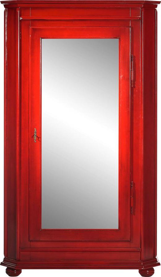 SCHRANK Fichte massiv lackiert Rot - Rot, LIFESTYLE, Holz/Metall (115/195/53cm) - Landscape