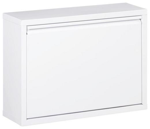 SCHUHKIPPER lackiert Weiß - Weiß, Design, Metall (50/37/15cm) - CARRYHOME
