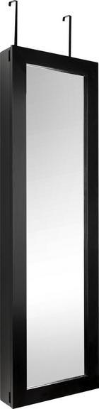 SCHMUCKSCHRANK - Schwarz, KONVENTIONELL, Glas (37/120/9cm) - Xora